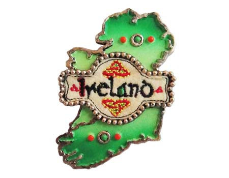 Celtic Threads Map of Ireland Magnet