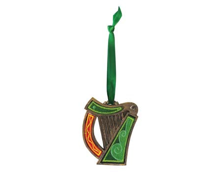 Irish Harp Hanging Ornament
