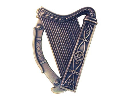 Irish Harp Plaque