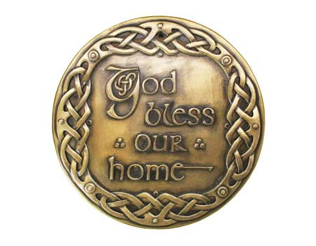 God Bless Our Home Bronze Wall Plaque