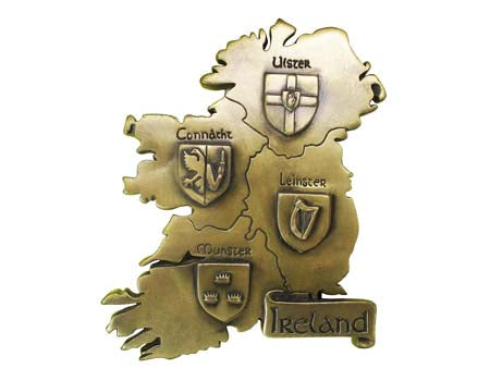 Provinces of Ireland Bronze Wall Plaque