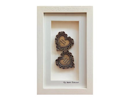 Cream Framed Two Hearts Entwined
