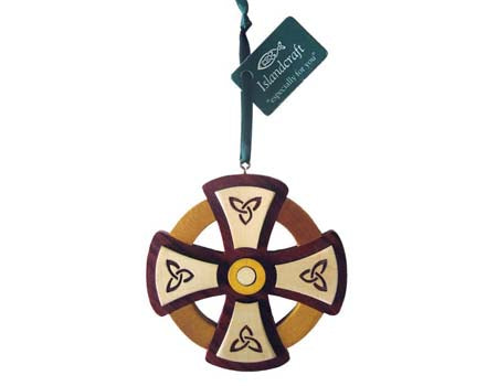 Round Cross Hanging Ornament