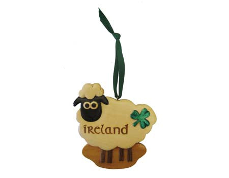 Irish Sheep Hanging Ornament