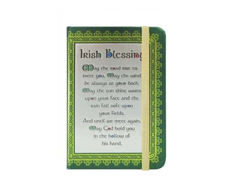 Shamrock Spiral Blessing Notebook
