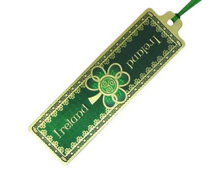 Celtic Notes Shamrock Spiral Bookmark