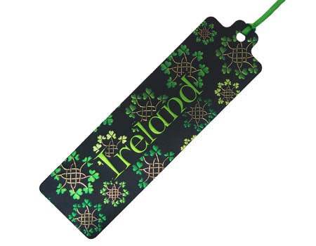 Celtic Notes Shamrock Garlands Bookmark