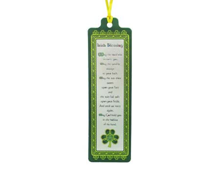 Shamrock Spiral Blessing Bookmark