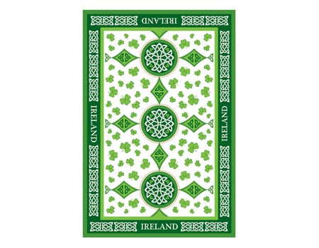 Scattered Shamrocks Irish Tea Towel