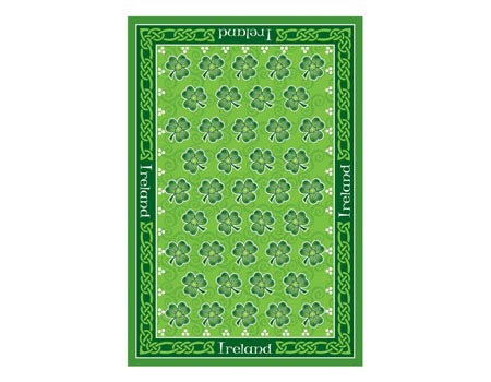 Dancing Shamrocks Irish Tea Towel
