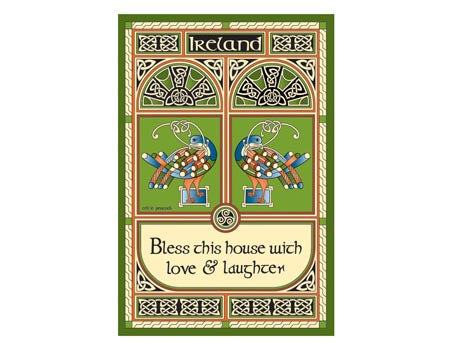 Celtic Peacock Set of 2 Tea Towels