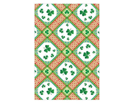 Shamrock Diamonds Irish Tea Towel