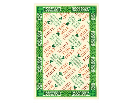 Cead Mile Failte Irish Tea Towel