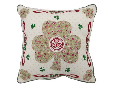"Irish Shamrock 10"" Cushion"