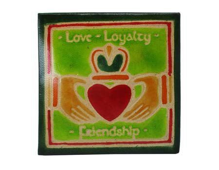 Claddagh Square Leather Purse