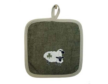 Shamrock Sheep Pot Holder