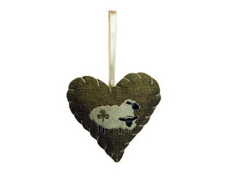Shamrock Sheep Heart Fragrant Ornament