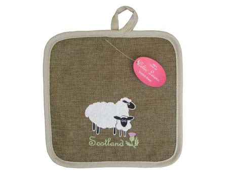 Scottish Sheep Pot Holder