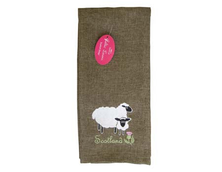 Scottish Sheep Tea Towel