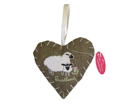 Scottish Sheep Heart Fragrant Ornament