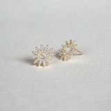 CZ Sunburst Earrings