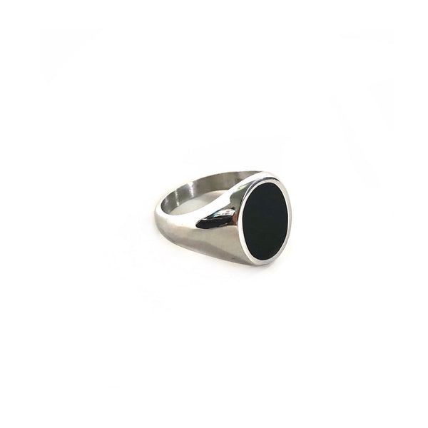 Black Oval Signet Ring
