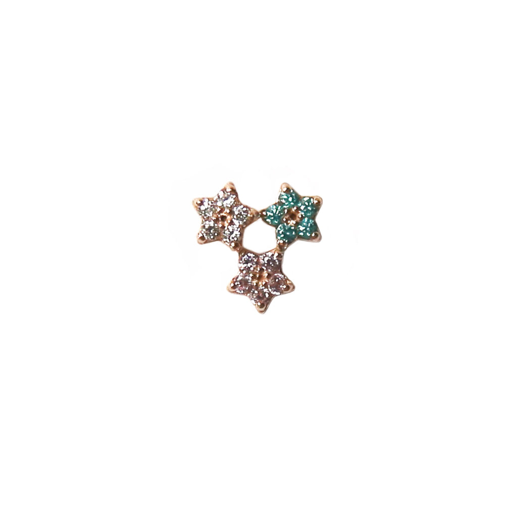 Twinkle Star Stud | 14K Rose Gold