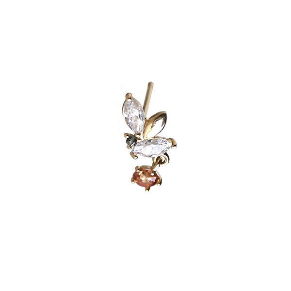 Flying Butterfly Stud | 14K Gold
