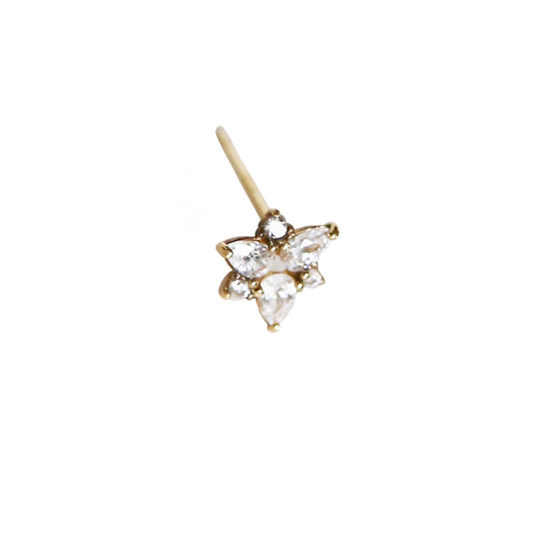 Flower Stud | 14K Gold