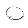 Hexagon Brass Bracelet | Navy