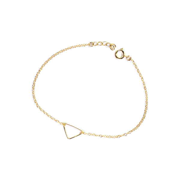 Gold geometry triangle chain bracelet