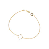 Gold geometry square chain bracelet