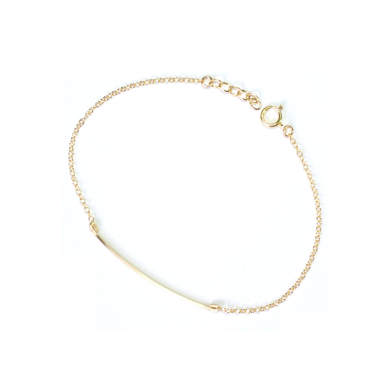 Curved Wire 14K Gold Filled Bracelet
