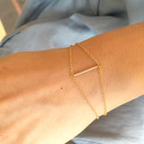 Wrist wearing Cross Bar 14K Gold Filled Bracelet