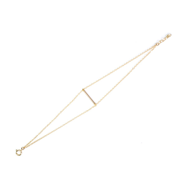 Cross Bar 14K Gold Filled Bracelet