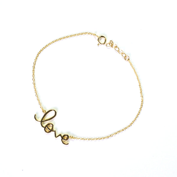 Large Gold Love Letter Bracelet
