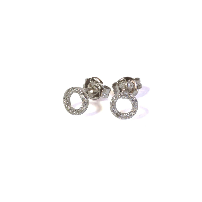 Sparkle Open Circle Studs