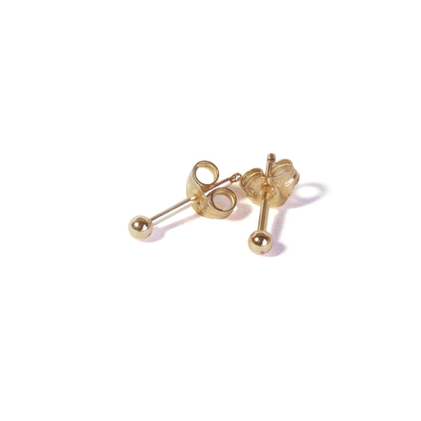 Small Gold Filled Ball Earrings with posts in