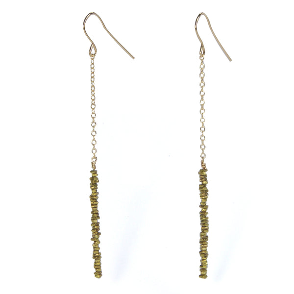 Brass Chip Hook Earrings