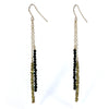 Brass Chip with Black Pyrite Earrings Alternate