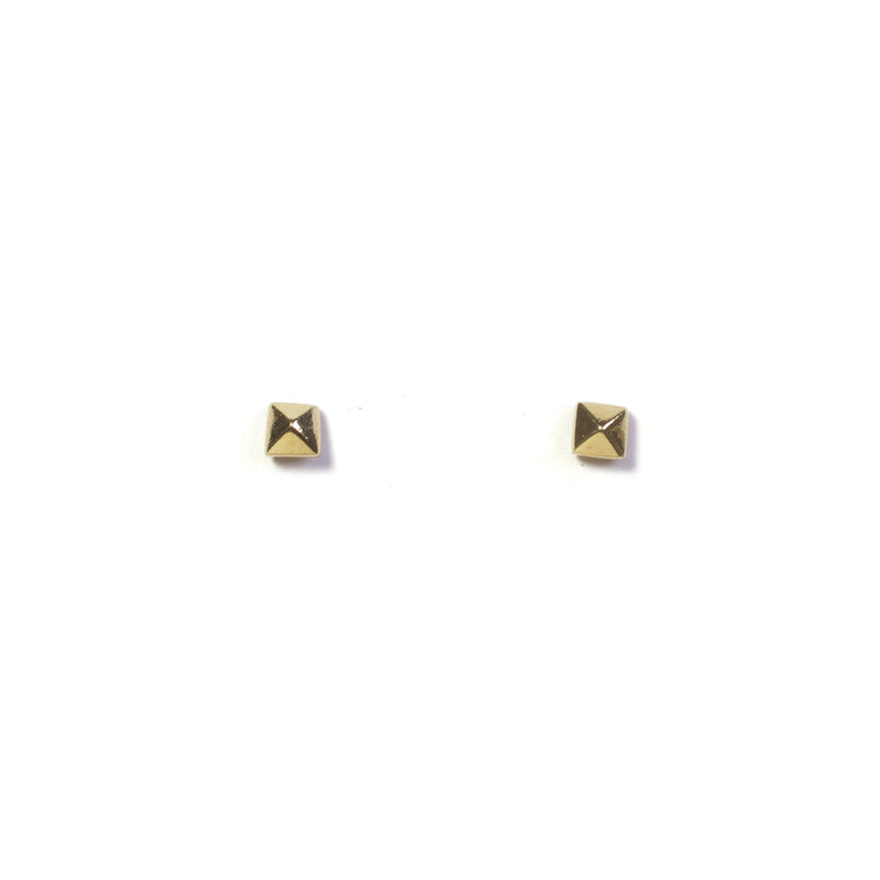 Pyramid Yellow Gold Earrings