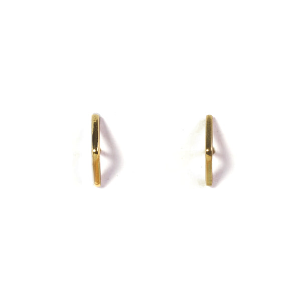 Arrow Bar Earrings - Yellow Gold