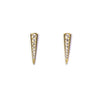 CZ Horn Bar Earrings - yellow gold