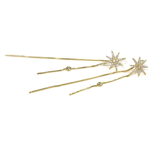 Supernova Thread Earring - yellow gold