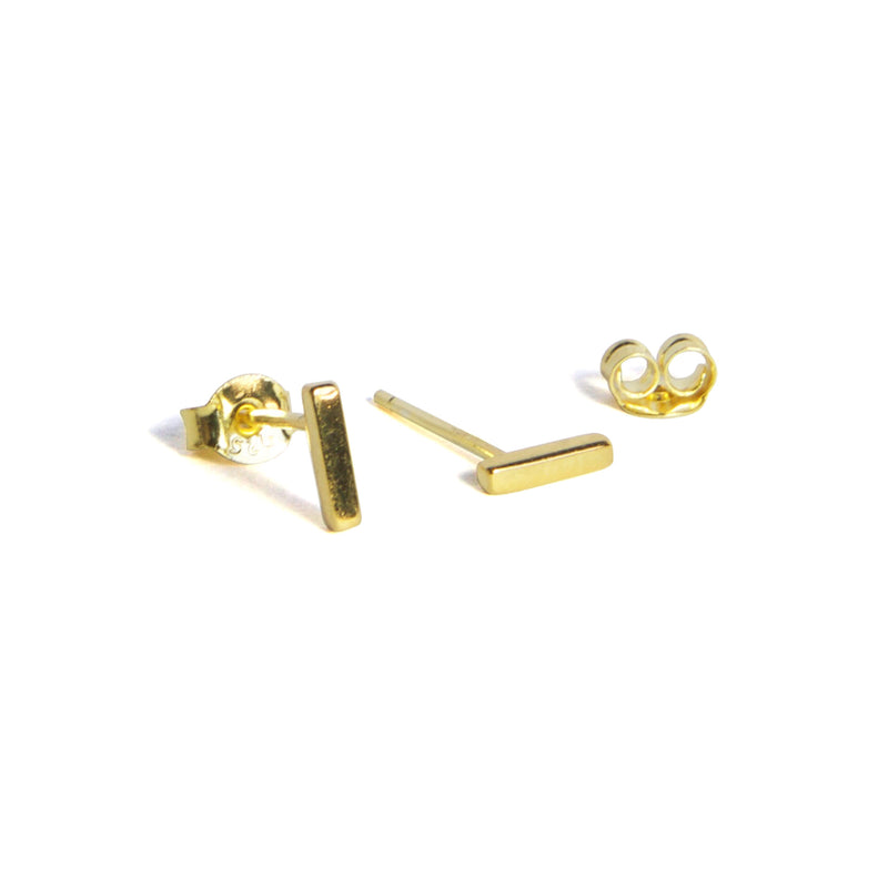 Small Bar Earrings Alternate - Yellow gold
