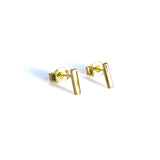 Small Bar Earrings - Yellow gold