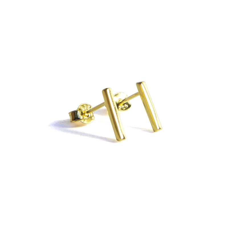 Medium Bar Earrings - Yellow gold