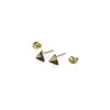 Gold Triangle with Enamel Earrings with posts in - Black