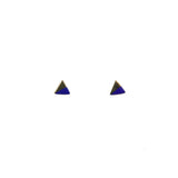 Triangle Color Block Stud | Gold