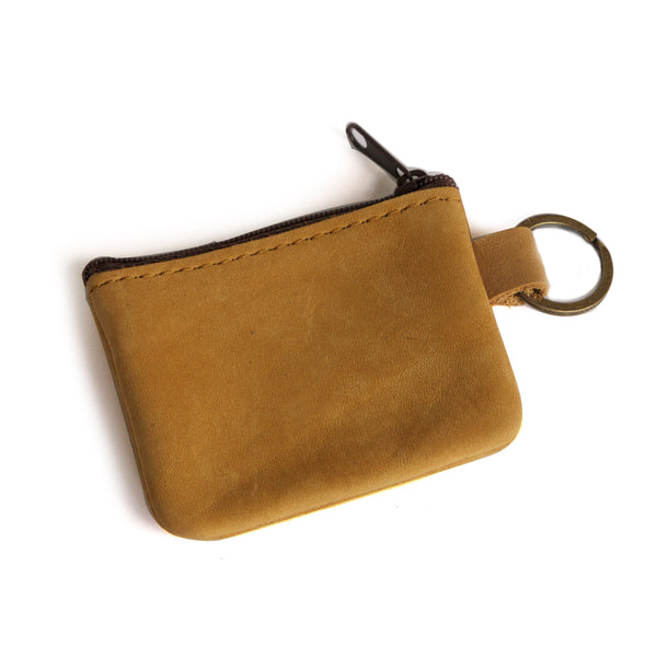 Small Suede Coin Purse Closed